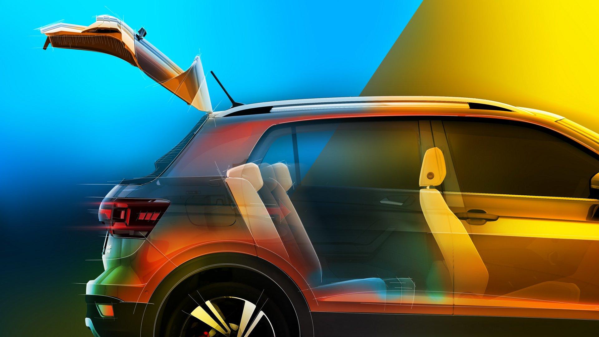 Немецкий автомобилестроитель «Фольксваген» рассекретил некоторые подробности интерьера T-Cross и опубликовал очередные изображения компактного кроссовера